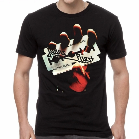 M&O Gold Other - Judas Priest British Steel Album Cover Band Shirt